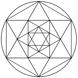 picture relating to Printable Crystal Grid titled Crystal Grid Templates